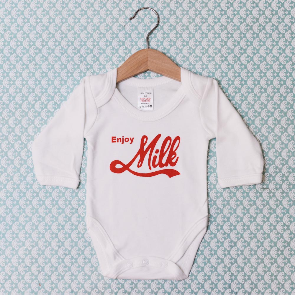 """Enjoy Milk"" Baby Grow"